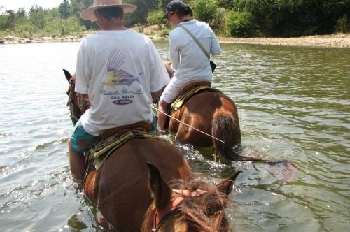 Riding horseback to Atotonilco Hot Springs near Puerto Escondido